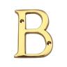 Carlisle Brass Letter Face Fix Letter 'B' 53mm H Polished Brass