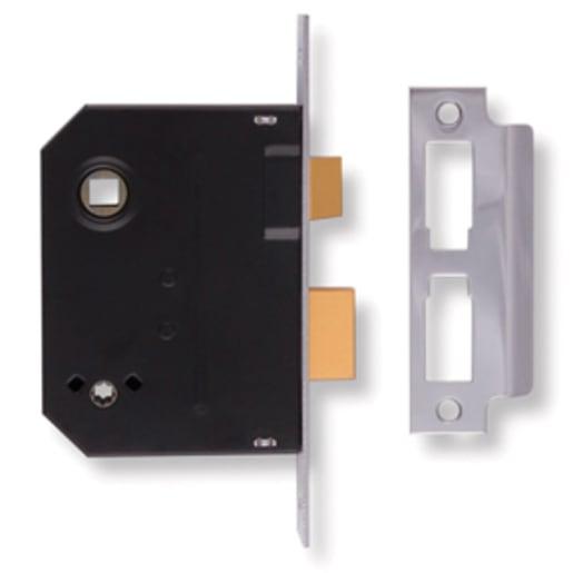 Union Mortice Bathroom Lock 102 x 63mm Chrome