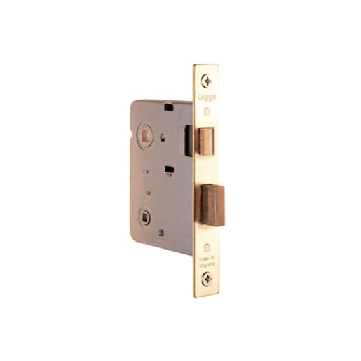 Legge Bathroom Lock With Reversible Latch 76mm Case Polished Brass
