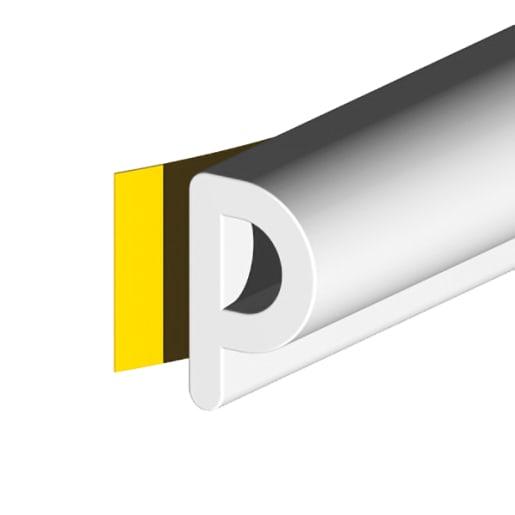 Stormguard EPDM 'P' Profile Draught Excluder Strip 10m (L) White