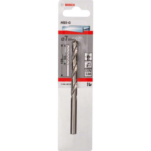 Bosch HSS-G Metal Drill Bit 109 x 7mm Grey