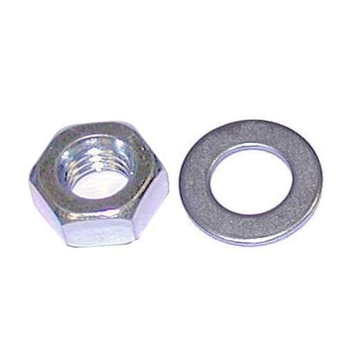 A Perry No.1719 M24 Hexagon Nuts and Round Washers Zinc Plated