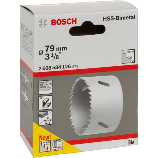 Bosch HSS Bi-Metal Holesaw 79mm Dia