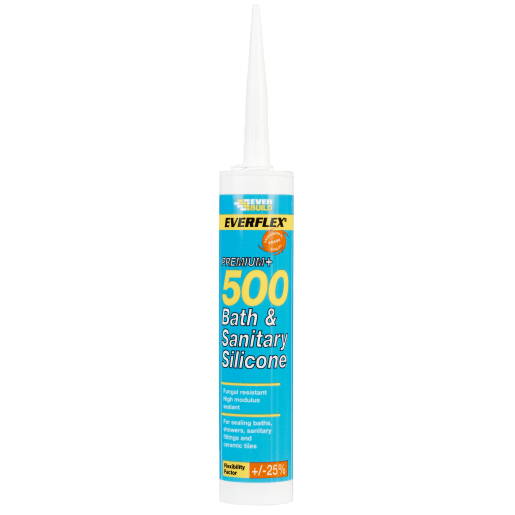 Everbuild Everflex Premium+ 500 Bathroom Sealant 295ml Translucent