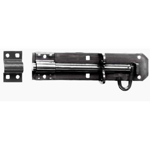 A Perry No.2A Medium Brenton Pattern Padlock Bolt 200 x 12mm Black