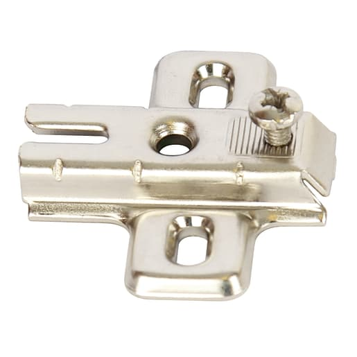 Hafele Cruciform Mounting Plate Kitchen Cabinet Hinges Nickel Plated