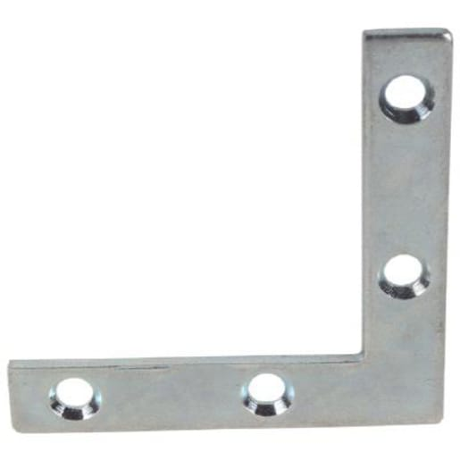 A Perry No.324 Corner Plates 63mm Zinc Plated