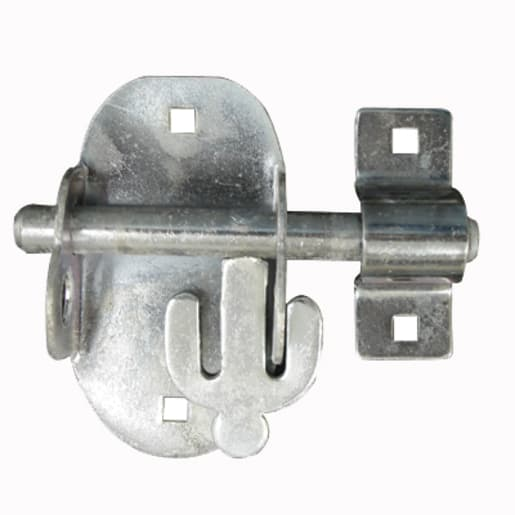 A Perry No.4A Oval Padlock Bolt 115mm Galvanised