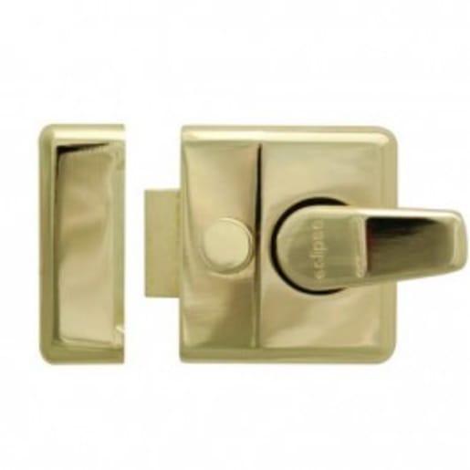 Narrow Style Brass Nightlatch with Brass Cylinder