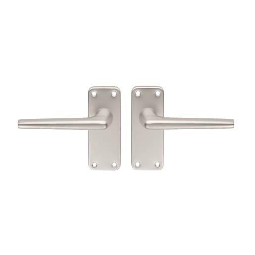 Carlisle Brass Aluminium Lever Latch Door Handle 102 x 41mm