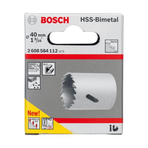 Bosch HSS Bi-Metal Holesaw 40mm Dia