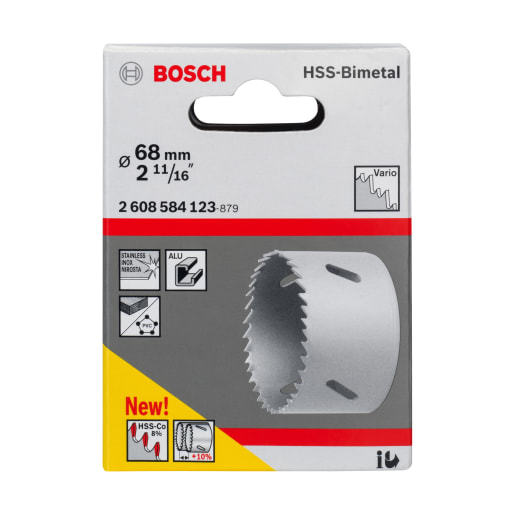 Bosch HSS Bi-Metal Holesaw 68mm Dia
