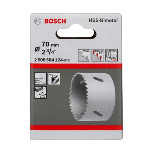 Bosch HSS Bi-Metal Holesaw 70mm Dia