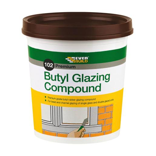 Everbuild 102 Butyl Glazing Compound 2kg Brown