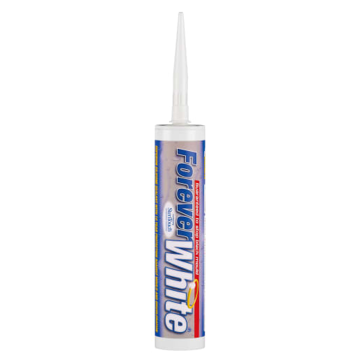 Everbuild Forever White Silicone Sealant 295ml