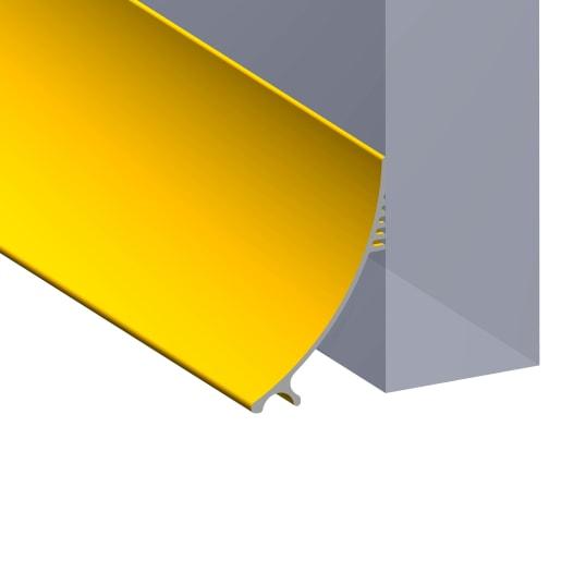 Stormguard Aluminium Rain Deflector 914 x 63mm (L x W) Gold