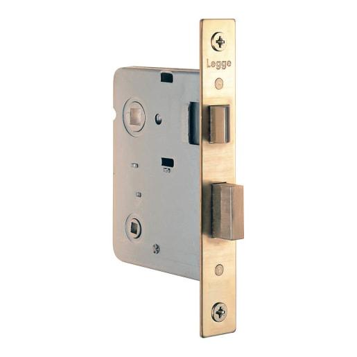 Legge Bathroom Mortice Lock 64mm L Polished Brass