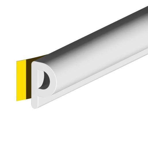 Stormguard Self Adhesive P-Strip Seal 100m x 5.5 x 9mm White