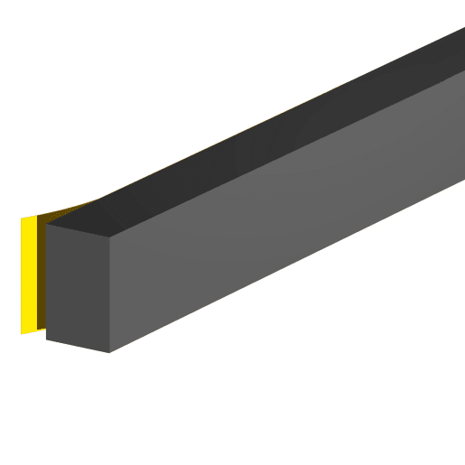 Stormguard Rubber Foam Weatherstrip 3.5m x 12.7 x 8mm