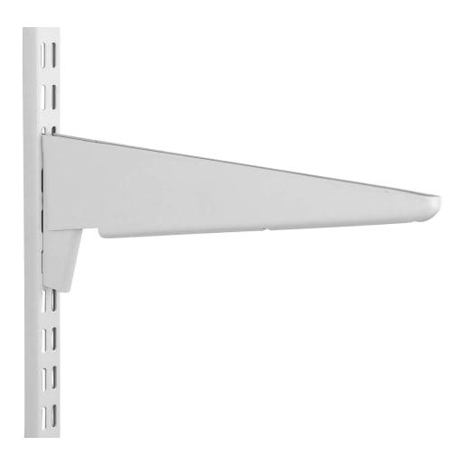 Fairways Twin Slot Heavy Duty Shelf Bracket White 370mm