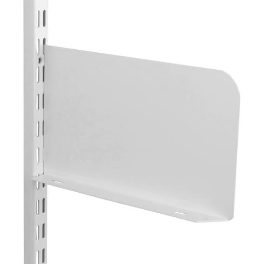 Fairways Shelf Ends Pair White 250mm