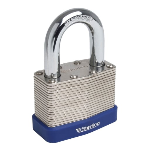 Sterling Laminated Steel Padlock 64 x 30.5mm Chrome Plated