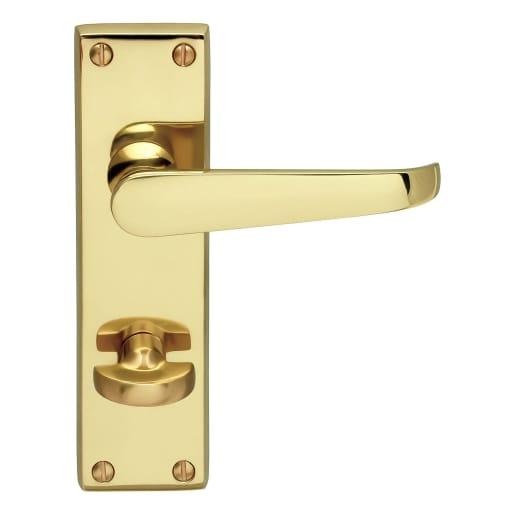 Carlisle Brass Victorian Flat Lever Bathroom Door Handles 100mm L