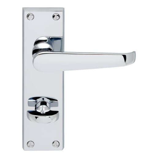 Carlisle Brass Victorian Flat Lever Bathroom Door Handles
