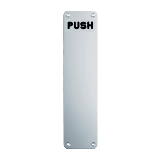 Eurospec Push Finger Plate 300 x 75mm Satin Anodised Aluminium