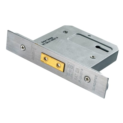 Eurospec Easi-T5 Lever Security Deadlock 64mm L Satin Stainless Steel