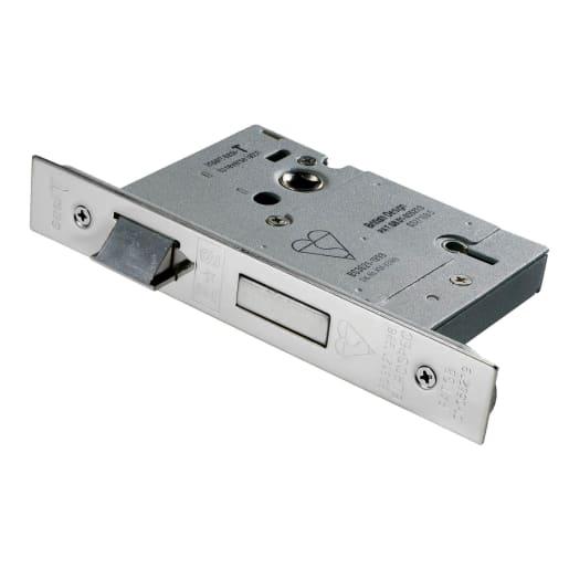 Eurospec Easi-T 5 Lever Sashlock 76mm D Satin Stainless Steel