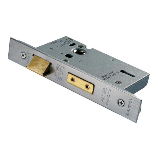 Eurospec Easi-T3 Lever Sashlock 76mm L Satin Stainless Steel