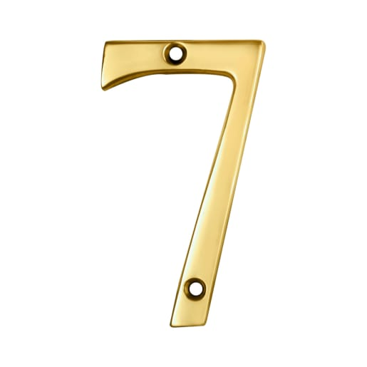 Carlisle Brass Numeral 7 Face Fix Number 73 x 41mm Polished Brass