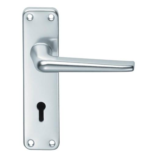 Carlisle Brass Satin Anodised Aluminium Lever Lock 152 x 41mm Silver