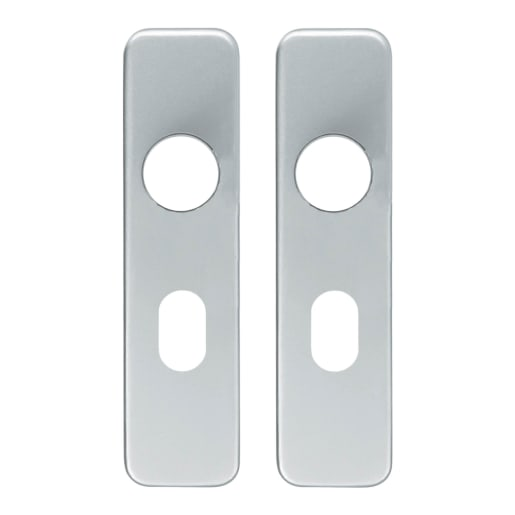 Eurospec Safety Lever Oval Plate Handle Cover 154 x 40 x 19mm