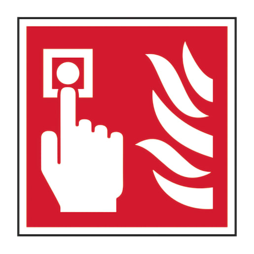 Spectrum 'Fire Alarm Call Point' Sign 100 x 100mm