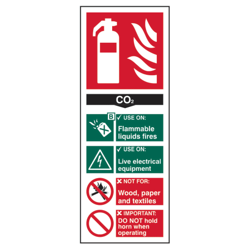 Spectrum 'CO2 Fire Extinguisher' Sign 202 x 82mm