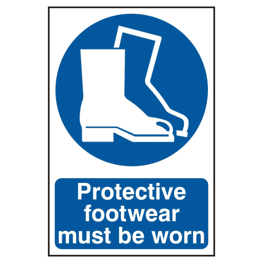 Spectrum 'Protective Footwear Must Be Worn' Sign 300 x 200mm