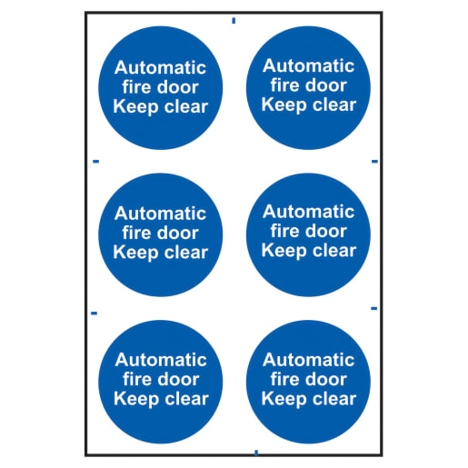 Spectrum 'Automatic Fire Door Keep Clear' Sign 300 x 200mm