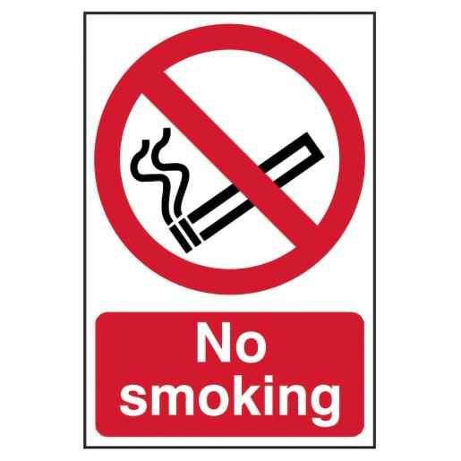 Spectrum 'No Smoking' Self Adhesive Sign 300 x 200mm (H x W)