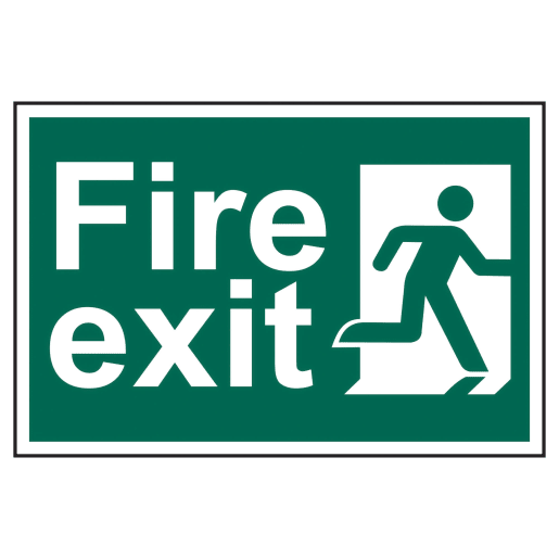 Spectrum 'Fire Exit Running Man' Sign Self Adhesive 200 x 300mm