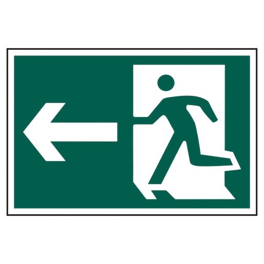 Spectrum 'Man Running Arrow Left' Graphic Sign Self Adhesive