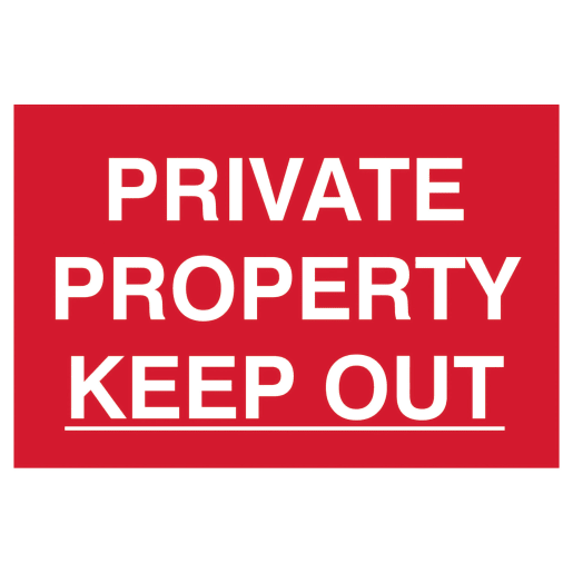 Spectrum 'Private Property Keep Out' Sign Self Adhesive 200 x 300mm