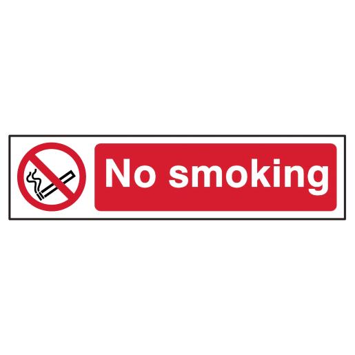 Spectrum 'No Smoking Prohibition' Sign Self Adhesive 50 x 200mm