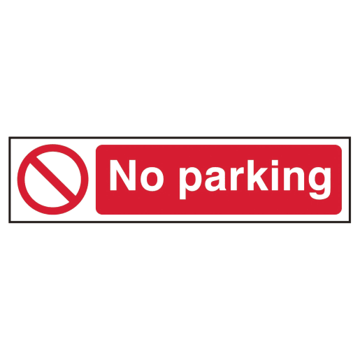Spectrum 'No Parking' Prohibition Sign Self Adhesive 50 x 200mm