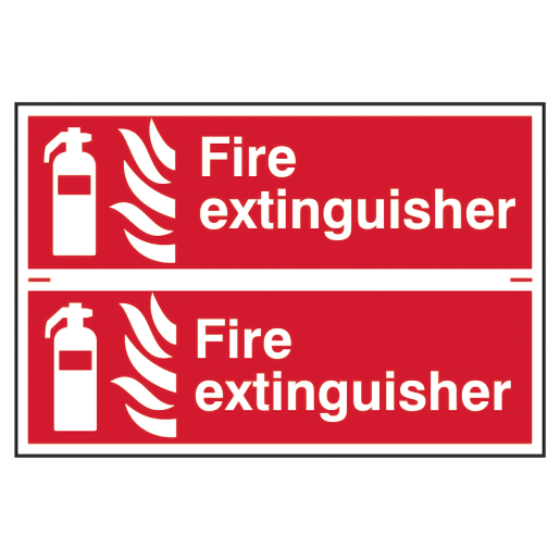 Spectrum 'Fire Extinguisher' Sign Self Adhesive 200 x 300mm