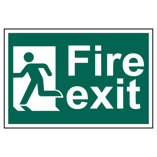 Spectrum 'Fire Exit Man Running to Left' Sign 200 x 300mm