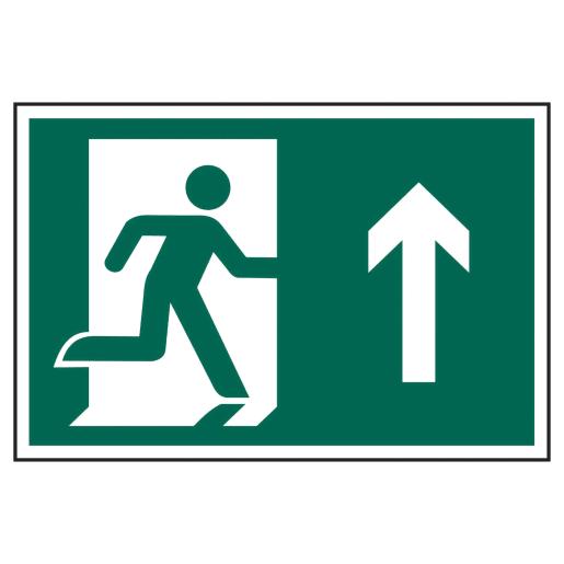 Spectrum 'Man Running Arrow Up' Graphic Sign Self Adhesive 200 x 300mm