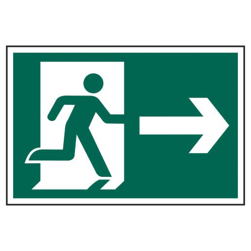 Spectrum 'Man Running Arrow Right' Graphic Sign 200 x 300mm