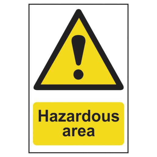 Spectrum 'Danger Hazardous Area' Sign Self Adhesive 600 x 400mm